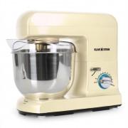 Klarstein Gracia Morena Robot de Cuisine pâtissier multifonctions (5 litres, 1000W, 10 vitesses, batteur, mixeur, fouet et pétrin) - crème