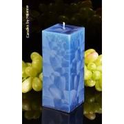 Candles by Milanne Kwadrant kaars, BLAUW POLYMICO, h: 16 cm - kaarsen