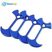 4pcs SHINETRIP Lightweight Tent Peg Rope Grip Loop (Azul)