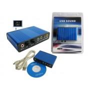 NTR SC01 5.1 csatornás USB hangkártya, SPDIF optikai ki/bemenet, analóg 5.1 jack kimenet