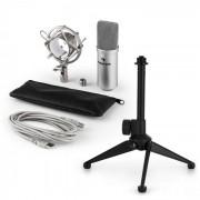 auna MIC-900BL USB Conjunto Microfone V1 | Microfone Condensador Azul | Suporte p/Mesa