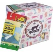 Pusculita Noua Cat Lover cutie decorativa carton multicolor lucrata manual 12x12x12cm