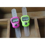 2 Pcs. New Hand Tally Counter Portable Puja Finger Counter (Assorted Colors)