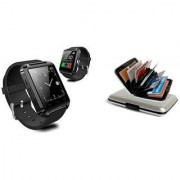 Style Maniac Combo Of U8 Smartwatch Bluetooth Smart Watch For Android IOS With ATM Plastic Card Holder.