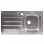 Chiuveta Franke Colibri 2'' CIL 611 Inox dekor 88360067, 780x435mm, 1B 1D, Cuva dreapta