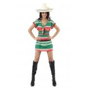 Vegaoo Klänning med Mexico-inspirerat mönster