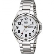 Q&Q Quartz White Round Men Watch 100A192-204Y