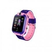 Ceas smartwatch copii rezistent la apa conectare telefon touchscreen foto monitorizare spion buton SOS Roz