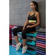 Gabi funkcionális 3/4-es fitness leggings, fekete L