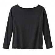 Linnenjersey-shirt, zwart 52/54