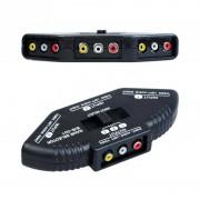 3 Way Audio Video AV RCA Switch Selector Box Splitter Voor XBOX360 DVD PS2 PS3 met RCA Kabel