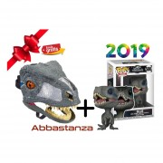 Mascara Interactiva Y Funko Pop de Raptor Jurassic World Mattel BLUE