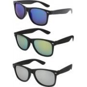 F style Wayfarer, Round, Wayfarer Sunglasses(Blue, Yellow, Grey)