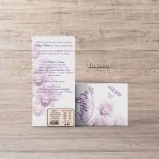 Invitaţie de botez cu Orhidei