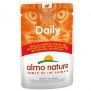 6х70г Daily Menu Almo Nature, консервирана храна за котки - пиле и сьомга