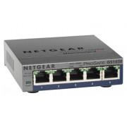 Netgear GS105PE Unmanaged L2 Gigabit Ethernet (10/100/1000) Power over Ethernet (PoE) Grey