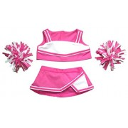 "Bear Factory Pink & White Cheerleader Outfit Teddy Bear Clothes Fit 14"" - 18"" Build-A-Bear, Vermont Teddy Bears, and Make Your Own Stuffed Animals"