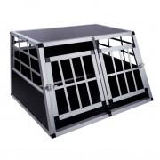 Hundetransportbox mit 2 Türen, 89 x 69 x 50 cm, DC2