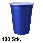 StudyShop 100 Stück Blaue Becher (Blue Cups 16 oz.)