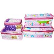 FORE TREND Multi-Purpose Travel Kits & Organizers or Toiletry Kits Set of 4 PCS-Green(Pink)
