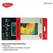 Culori acrilice 10 culori Artist Daco