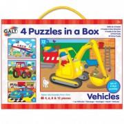 Set 4 puzzle uri Vehicule Galt