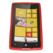 Силиконов гръб ТПУ за Nokia Lumia 520 Червен