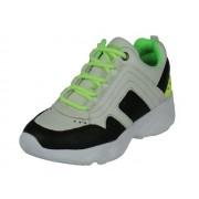 Track Style Track Style sport lage Jongens Veterschoen - wit zwart - Size: 37