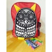 Recolouring Owl School Bag/Backpack (Colour Wash Recolour)