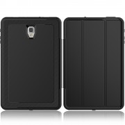 Tri-fold Stand PU Leather Smart Case for Samsung Galaxy Tab A 10.5 (2018) T590 T595 - Black