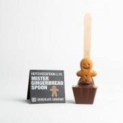 Ciocolata calda pe Lingurita Gingerbread Man-alb