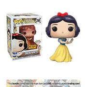 Snow White (Hot Topic Diamond Collection Exclusive): Funko POP! Disney x Disney - Snow White Vinyl Figure + 1 Classic Disney Trading Card Bundle (21919)