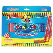Carioca viltstift Dubbelpunter Birello Superwashab 24 stiften