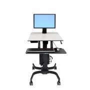 Ergotron WorkFit-C Sitz Steh Arbeitsplatz bis 30 Zoll Monitore