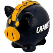 NFL San Diego Chargers Resin Large Thematic Piggy Bank