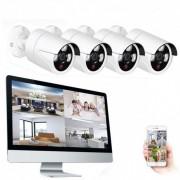 Grantek Kit Vidéosurveillance WiFi Sans fil NVR Ecran 16 + 4 Caméras