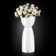 Aranjament floral VIENNA IN SHINY VASE, alb