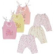 Jo kids wear Baby Girl Cotton Dress Set (Top and Leggings) Multi Color Set of 3