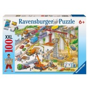 Puzzle teren de constructii, 100 piese Ravensburger