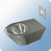 B&K fali WC csésze, hátsós, rozsdamentes acél