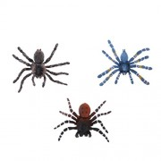 MagiDeal 3Pcs Plastic Brazilian Spider Model Animal Figurines Wildlife Display Action Figures Party Bag Fillers Collectibles Children Science & Nature Learning Toys