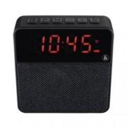 Тонколона Hama Pocket Clock, 1.0, 3W RMS, Bluetooth/3.5mm/USB/Micro USB/SD жак, до 6 часа възпроизвеждане, часовник, черна
