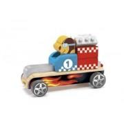 Drewniany składany samochód BOLID, DJECO DJ06410