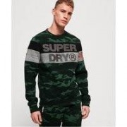 Superdry Gym Tech Cut rundhalsad sweatshirt