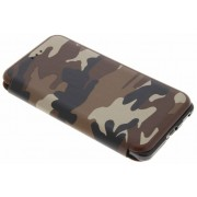 Bruine Army Slim Folio Case voor de Nokia 6