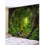Rosegal Tapisserie Murale 3D Route Forestière Imprimée Largeur 91 x Longueur 71 pouces