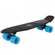 [pro.tec]® Monopatín retro - Skateboard / Mini Cruiser - negro - azul - (57cm)