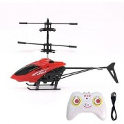 Stookin Exceed Induction Type 2-in-1 Flying Indoor Helicopter with Remote (Red)