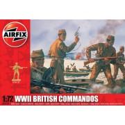 WWII British Commandos figura makett Airfix A01732