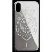 Les Fréres Silver Lion iPhone Case